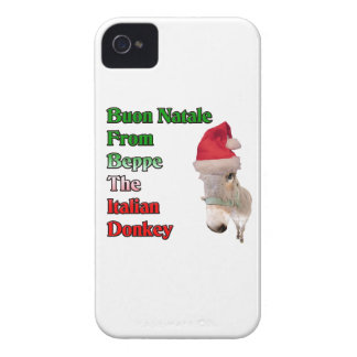 Buon Natale From Beppe The Italian Donkey iPhone 4 Case-Mate Case