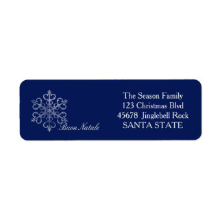 Buon Natale Holiday Address Label