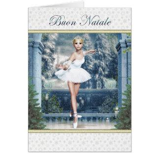 Buon Natale Italian Christmas Ballerina Card