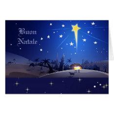 Buon Natale. Italian Christmas Card at Zazzle