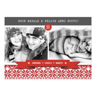 Buon Natale Italian Custom Christmas Photo Cards