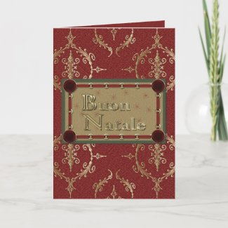 Buon Natale Italian Merry Christmas Greeting Card card