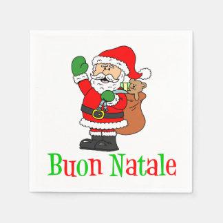 Buon Natale Italian Merry Christmas Santa Napkins
