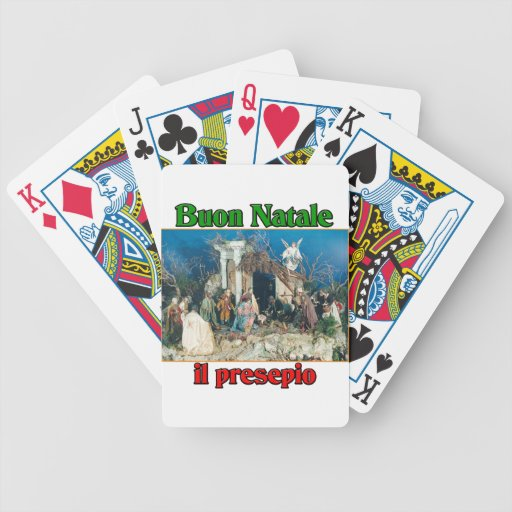 Buon Natale (Merry Christmas) IL Presepio Bicycle Playing Cards