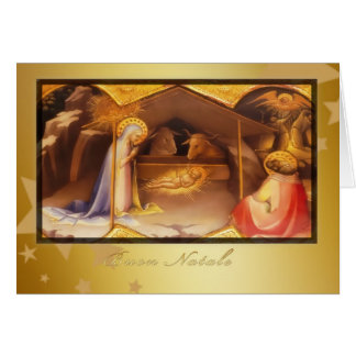 Buon Natale, Merry christmas in Italian, Greeting Card