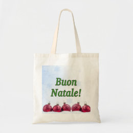 Buon Natale! Merry Christmas in Italian gf Tote Bag