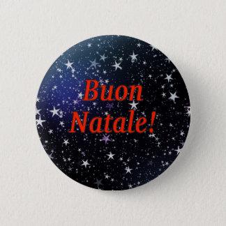 Buon Natale! Merry Christmas in Italian rf Button