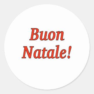 Buon Natale! Merry Christmas in Italian rf Classic Round Sticker