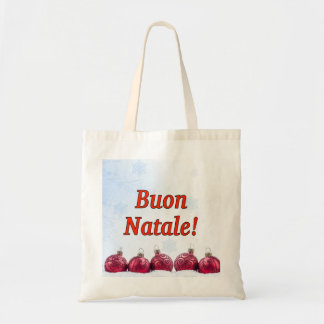 Buon Natale! Merry Christmas in Italian rf Tote Bag
