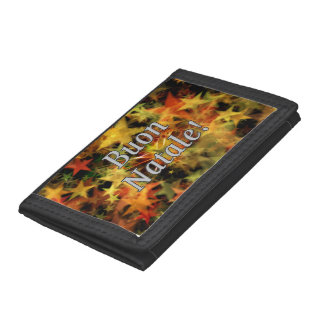 Buon Natale! Merry Christmas in Italian wf Trifold Wallets