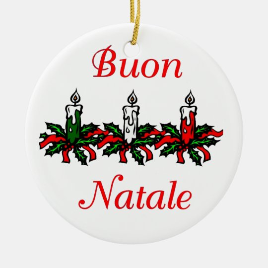 Buon Natale Merry Christmas Ornament Zazzle Com