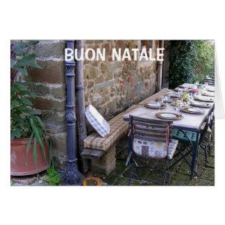 BUON NATALE - NAVIDAD ITALIANO TARJETA DE FELICITACIÓN