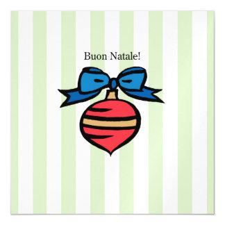 Buon Natale Ornament 5.25x5.25 Magnetic Invite GR