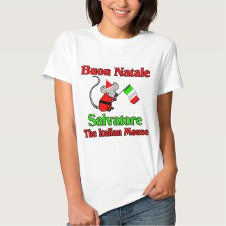 Buon Natale Salvador el ratón italiano Playeras