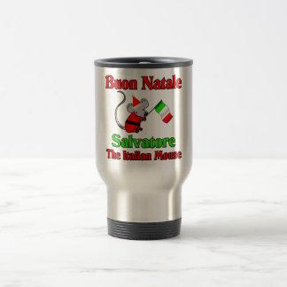Buon Natale Salvador el ratón italiano Taza De Viaje