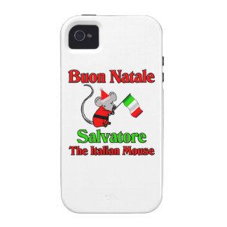 Buon Natale Salvatore The Italian Mouse Case-Mate iPhone 4 Cover