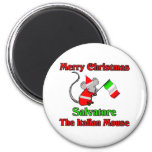 Buon Natale Salvatore The Italian Mouse Refrigerator Magnets