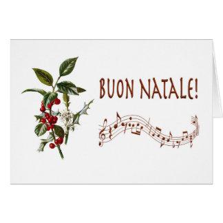 Buon Natale Tarjeta De Felicitación