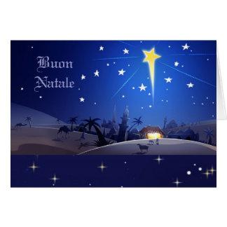 Buon Natale. Tarjeta de Navidad italiana