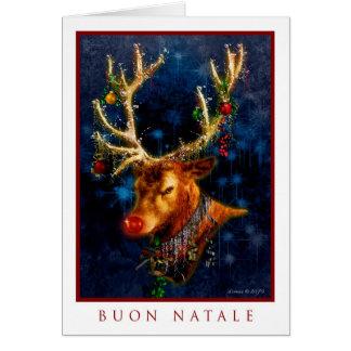 Buon Natale - tarjeta italiana de las Felices