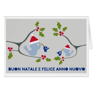 Buon Natale - Uccellini e campanelle Greeting Card