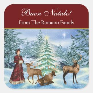 Buon Natale Victorian Personalized Gift Stickers