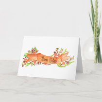 Buon Natale, watercolor Christmas banner Holiday Card