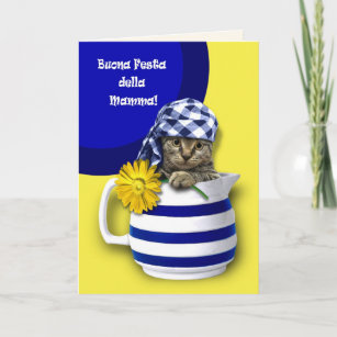 Buona festa cards greeting photo cards zazzle buona festa della mamma italian greeting cards m4hsunfo