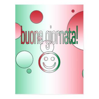 ¡Buona Giornata! La bandera de Italia colorea arte Postal