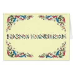 Buona Hanukkah - Happy Hanukkah In Italian Card at Zazzle