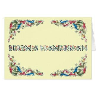 Buona hanukkah - Happy Hanukkah in Italian Card