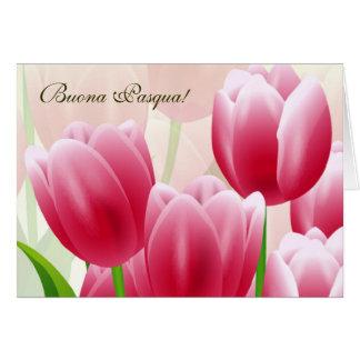 Buona Pasqua. Customizable Italian Easter Card