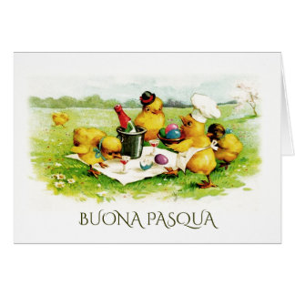 Buona Pasqua. Easter Greeting Cards in Italian