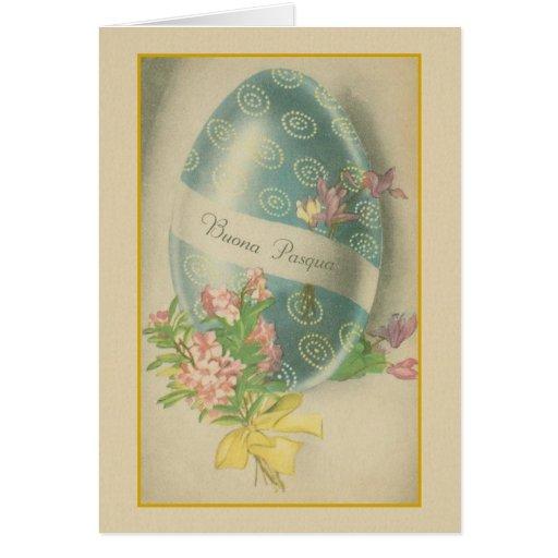 Buona pasqua italian easter egg greeting card zazzle