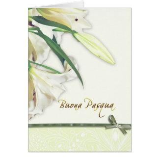 buona pasqua, italian happy easter card, lilly card