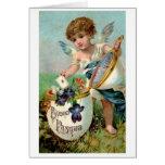Buona Pasqua! Victorian Italian Easter Card Greeting Card