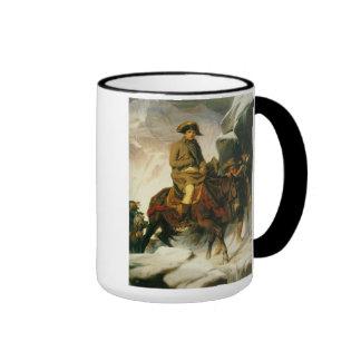 'Buonaparte Crossing the Alps' Ringer Mug
