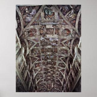 Buonarroti - Story of creation in Sistine Chapel Poster