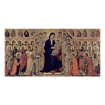 Buoninsegna - Angels enthroned Madonna and child Poster