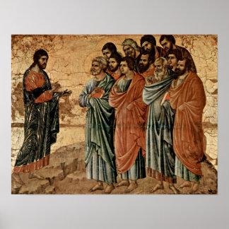 Buoninsegna - Cristo apareció a la montaña de Gali Impresiones