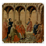 Buoninsegna - Twelve year old Jesus in Temple Print