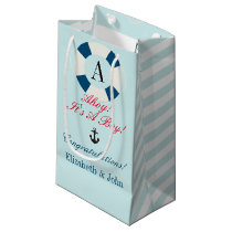 Buoy with Monogram, Nautical New Baby Boy Small Gift Bag