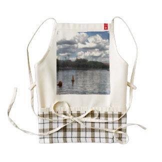 Buoys in the river zazzle HEART apron