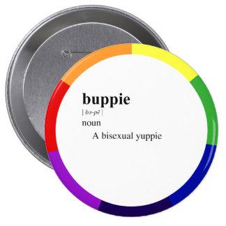 BUPPIE 4 INCH ROUND BUTTON