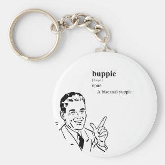 BUPPIE BASIC ROUND BUTTON KEYCHAIN