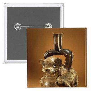 Buque con el puma, cultura de Chavin, c.90 A.C. Pin Cuadrada 5 Cm
