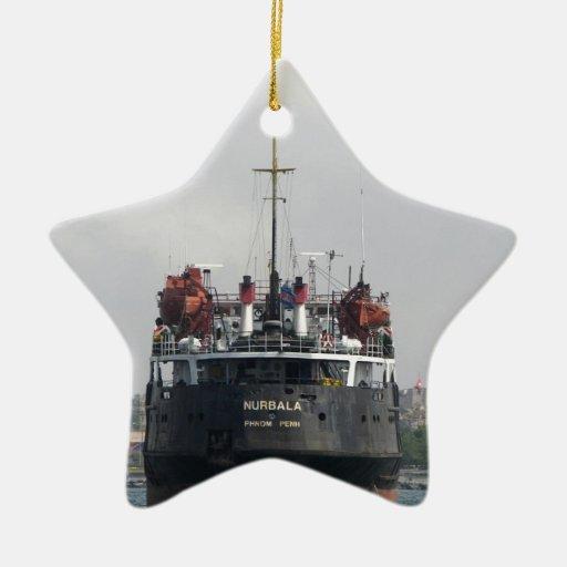 Buque de carga Nurbala Adorno Navideño De Cerámica En Forma De Estrella