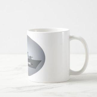 BUQUE DE GUERRA DE LA MARINA DE GUERRA TAZA DE CAFÉ