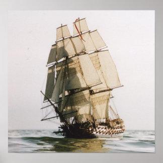 Buque de guerra del leopardo del HMS Póster