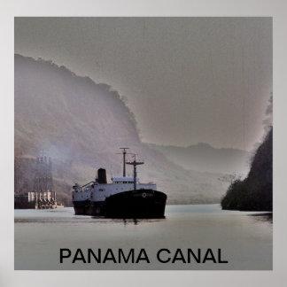 BUQUE DE PETRÓLEO EN EL CANAL DE PANAMÁ PÓSTER